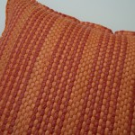 Orange and red pillow