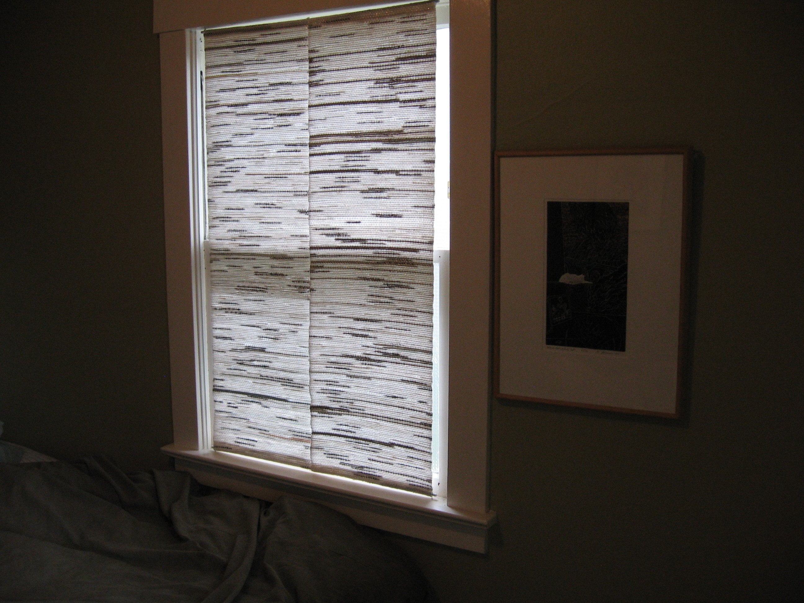 White window covering