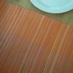 orange runner w plate