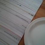 white runner w plate